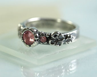 Princess Ring - Pretty in Pink Size UK I 0.5