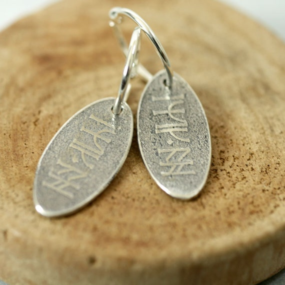 Silver Good Luck Charms Earrings