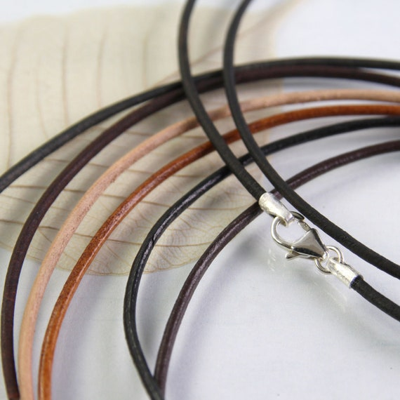 Leather Necklace with Clasp  1.5 mm Cord