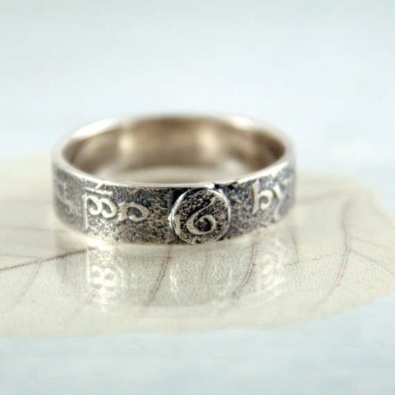Elvish Rune Ring Band Elven Jewellery