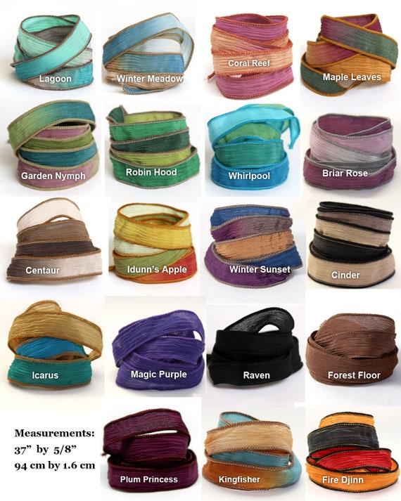 Silk Ribbon Wrap for Bracelet Extra Colours