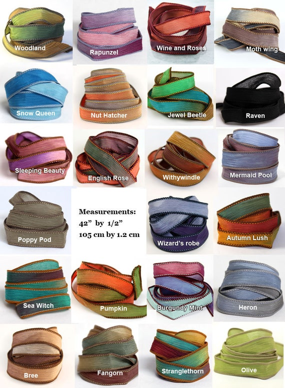 Silk Ribbons Extra Colours for Ribbon Bracelet