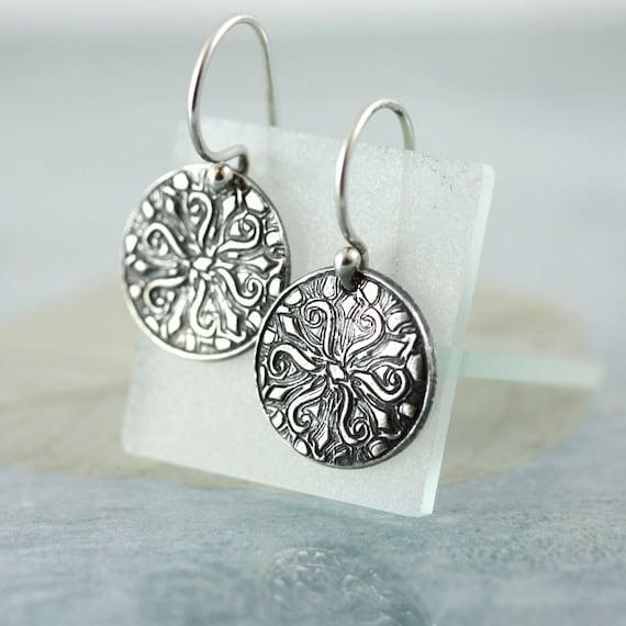 Starfish Silver Dangle Earrings  Sea Beach Charms