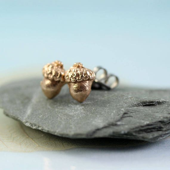 Bronze Acorn Earring Studs