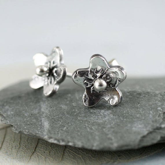 Forget-me-not Silver Earrings