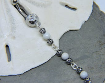 Piercing-/körperschmuck Beliebte Marke 14g Jeweled Bauch Knopf Ring Herz Kristallklarer Einzigartig Lang Nabel Schmuck