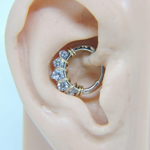 Septum Clicker Nose Ring Hoop 16g 3 8 Daith Clicker Etsy