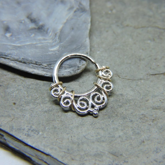 """Gold Ion Plated 16 Gauge /""""LOVE/"""" Heart  Ear Cartilage//Daith Hoop Ring"""