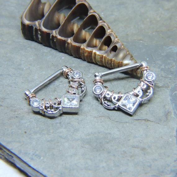 Nipple Shield Barbells SET OF 2 14G 1/2 Clicker | Etsy