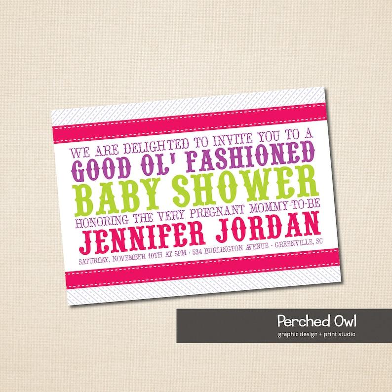 Baby Shower Invitation Good Old Fashioned Vintage Baby Etsy