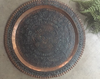 Ethnic Etched Copper Wall Art