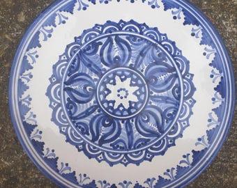 VINTAGE Blue Slovakia Modra Wall Plate