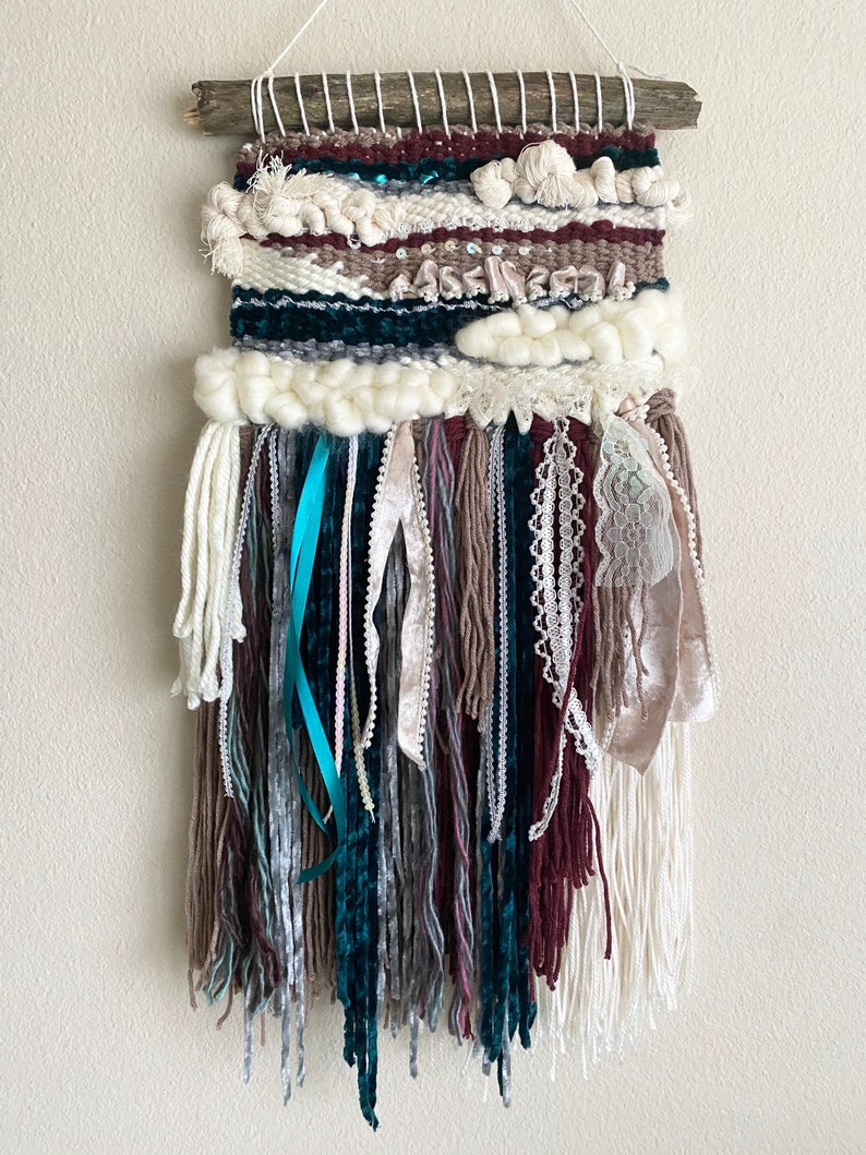 VictorianVintage Inspired Woven Wall Hanging