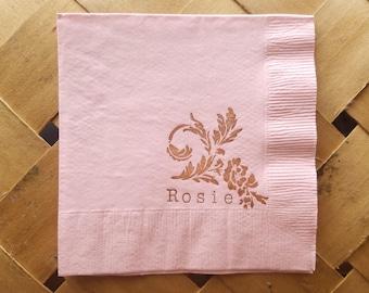 Personalized baby shower napkins italian Baby shower Napkins baby shower decorations italian Napkins bambino napkin personalized napkins