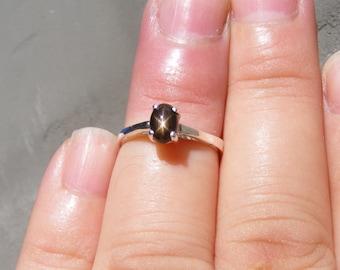 Black star sapphire | Etsy