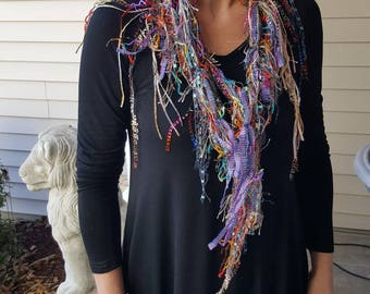 Scarf,Boho,Gift,60th Birthday,Mother in Law Gift,Gypsy,Bohemian,Gift for Women,Infinity Scarf,Shabby Chic,Godmother Gift,Gift for Her