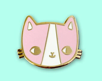 Golden Kitty Hard Enamel Pin
