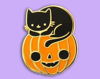 Pumpkin Kitten Pin