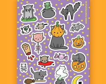 Spooky Kitty Mini Sticker Set
