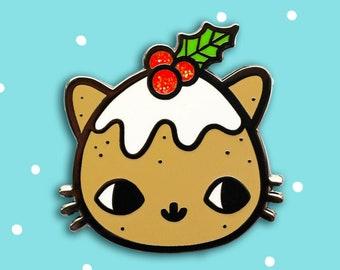 Pudding Kitty Hard Enamel Pin