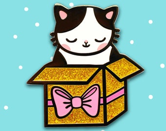 Present Kitty Hard Enamel Pin