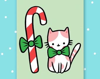 Candy cat postcard