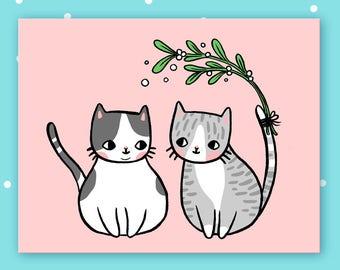 Mistletoe postcard