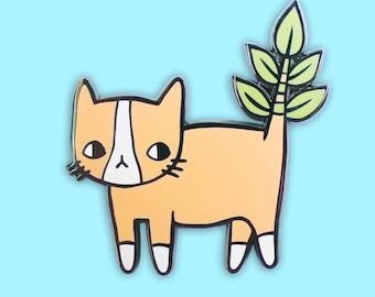 Plant Kitty Hard Enamel Pin