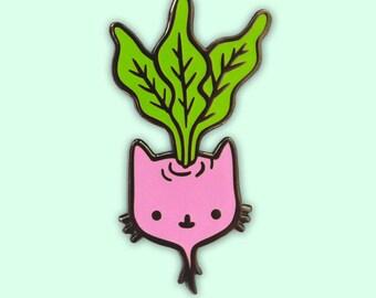 Beetroot Kitty Hard Enamel Pin
