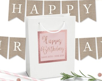 Personalised Happy Birthday Gift Bag DIY Party Favour Bags And Gifts