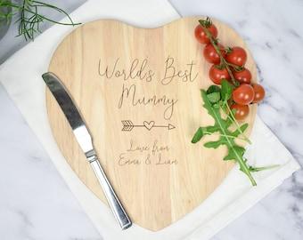 Personalised Mum's Chopping Board, Engraved Mum Gift, Mum Cutting Board, Mum Kitchen Gift, Mother's Day Cutting Board, Nanny Chopping Board