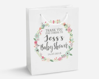 Personalised Baby Shower Gift Bag, DIY Sticker, Personalised Gift Bags, Baby Shower Gift Bag, Gender Reveal Party Bag, Baby Shower Gifts