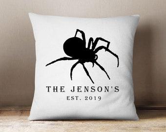 Personalised Halloween Cushion, Halloween Spider Cushion, Halloween Decor, Fall Cushions, Halloween Cushions, Decorations, Custom Made