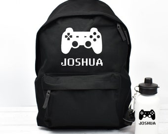 Personalised Gaming Backpack, Gamer School Bag, Kids Gamer Rucksack, Boys School Backpack, Kids Children Student Backpack, Back To School