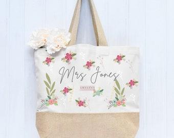 Personalised Teacher Tote Bag, Teacher Tote Bag, School Leaving Gift, Gift For Teacher, Teacher Gifts, Graduation Tote Bag Canvas, School