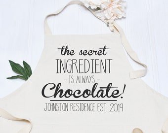 Personalised Apron, Baking Gift Personalised Apron Cooking Gift, Chocolate Gift, Full Kitchen Apron
