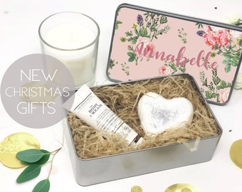 personalized tin best friend gift personalised christmas gift custom gift set best friend christmas gift set ladies gift set - Best Friend Christmas Gift