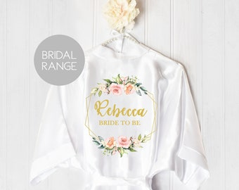 Wedding Robes Bridal Present Hen Party Bachelorette Party Kimono Bride Bridesmaid Maid of Honour Robes Bridal Dressing Gowns