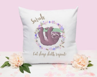 8ccbe793daf Personalised Sloth Cushion Cover