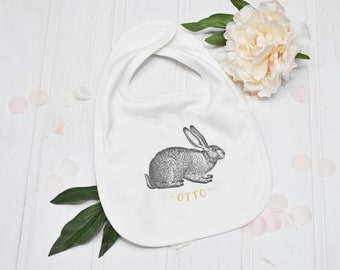 Personalised My First 1st Easter Girls Feeding Dribble Muslin Bunny Rabbit