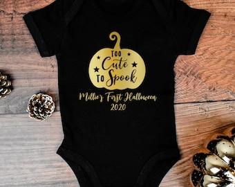 Cutest Little Pumpkin in the Patch Halloween Baby Vest First 0-3 months
