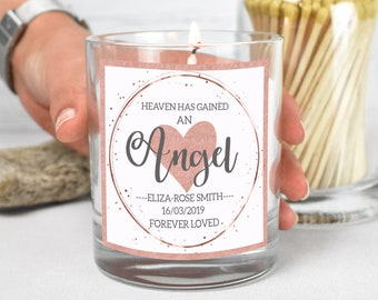 Personalised Miscarriage Gift, Baby Loss Memorial Candle, Angel Candle Gift, Personalised Bereaved Mum Gift, Personalised Sympathy Gift