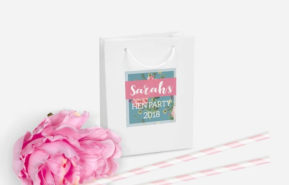 Personalised Gift Bag DIY Party Favour
