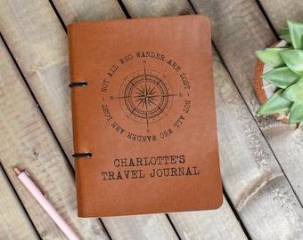 Personalised Vegan Leather Journal, Personalized Notebook, Vegan Gift, Travel Journal, Engraved Journal, Artist Sketchbook, Eco Friendly