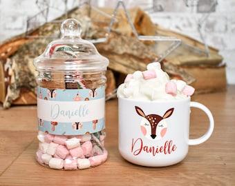 Personalised Hot Chocolate Kit, Stocking Fillers, Hot Chocolate Set, Christmas Eve Box Fillers, Hot Chocolate Gift, Christmas Mug Gift Set