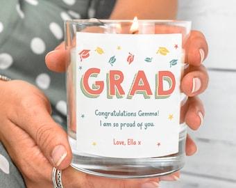 Personalised Graduation Candle, Graduation Gift, Graduation Gift for Her, Graduate Gifts, Custom Graduation Gift, Personalised Candle, Her
