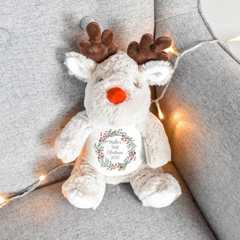 Personalised First Christmas Teddy Baby 1st Christmas Gift image 0