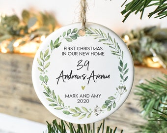 Personalised New Home Christmas Bauble, Our First Christmas Bauble, New Home Christmas Gift, New Home Gift, First Home Christmas Gift