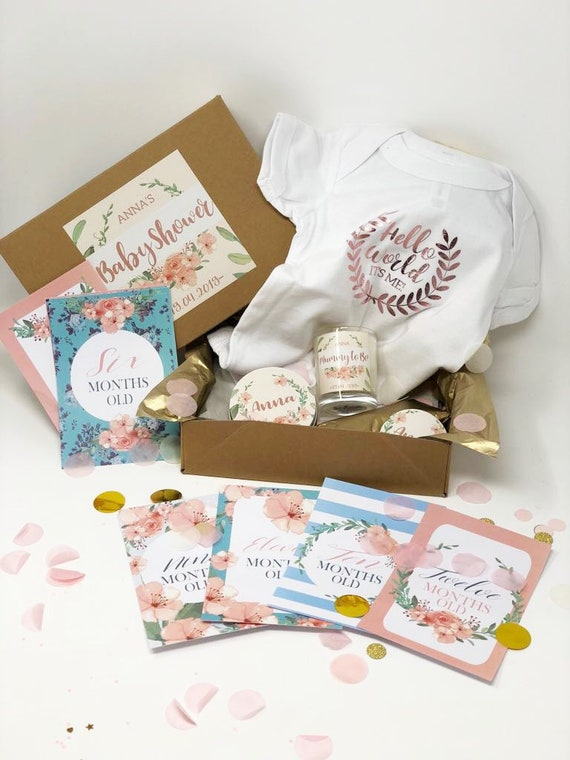 Personalised Baby Shower Gift Box New Baby Gift Box Baby Etsy