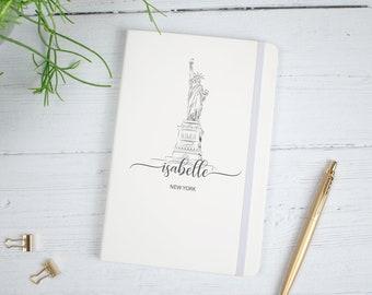 Personalised New York Notebook, New York Travel Journal, Travel Journal, Notebook, Name Journal, New York Theme Diary, Travel Gift, Journal